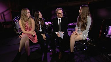 Image for HAIM chat to Huw Stephens at Maida Vale