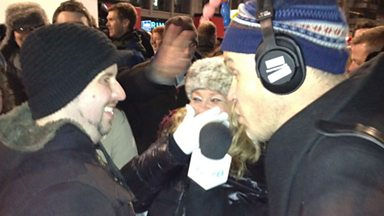 Image for New Year's Eve marriage proposal live on 5 live
