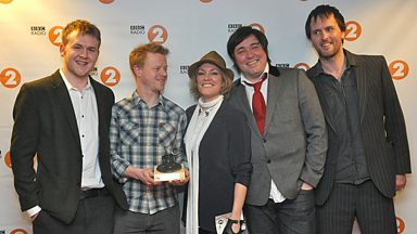 Image for Cerys Matthews presents the Best Album award to Bellowhead