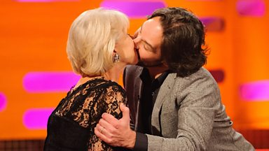 Image for Paul Rudd kisses Dame Helen Mirren