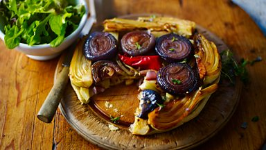 Image for Red onion, fennel and chilli tarte tatin