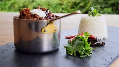 Image for Beef chilli with bitter chocolate