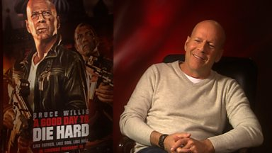 Image for Matt talks to Bruce Willis
