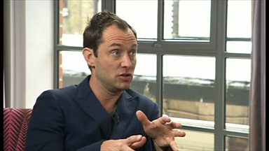 Image for The actor Jude Law shares his thoughts on his latest film, fame and turning 40