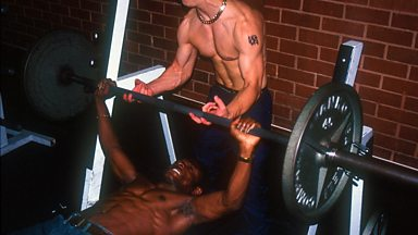 Image for Jeremy Hardy on the gym.