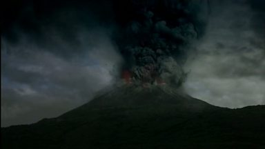 Image for The eruption begins