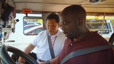 Image for Josh West has a driving lesson in a Jeepney