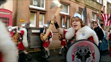 Image for A day in the life of the Junior Jarl at the Up Helly Aa
