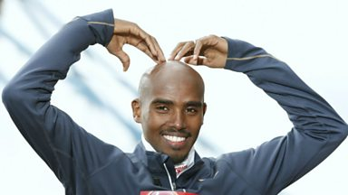 Image for Will Mo make the Marathon? Colin Paterson finds out Mo's late for London!