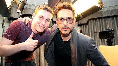 Image for Robert Downey Jr Interview with Chris Stark - Scott Mills On Air Reaction