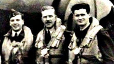 Image for Crew return to England after a bombing raid in World War Two