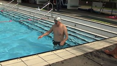 Image for Triathlon training: Pat Nevin and Perry Groves