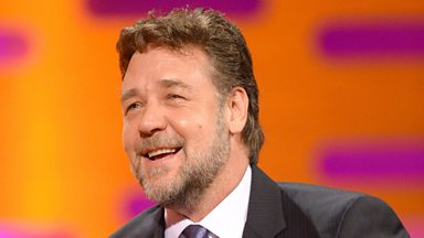 Image for Russell Crowe controls the red chair