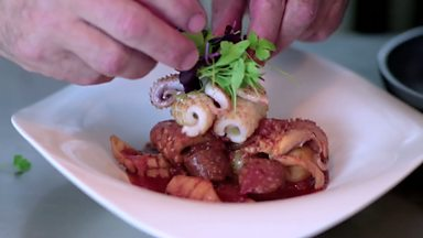 Image for Slow cooked squid and chorizo stew