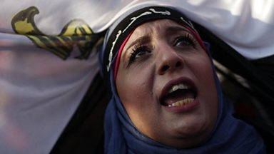 Image for Protesters celebrate Morsi ousting