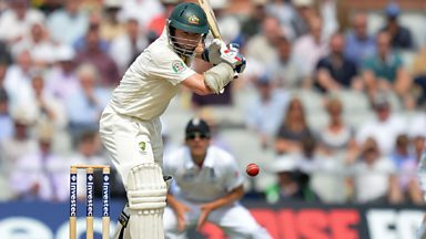 Image for The Ashes: Australia's Chris Rogers out lbw for 84