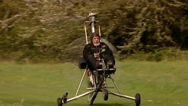 Image for Ken Wallis talks about autogyro collection
