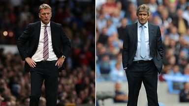 Image for Manchester derby: David Moyes & Manuel Pellegrini