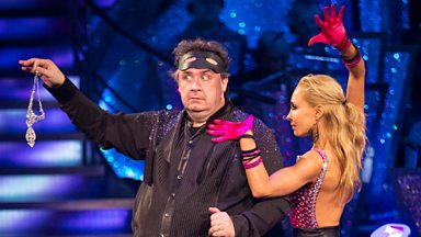 Image for Mark Benton and Iveta Lukosiute dance the Tango to 'Hernando's Hideaway'