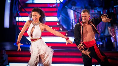 Image for Natalie Gumede and Artem Chigvintsev dance the Cha Cha to 'Rasputin'