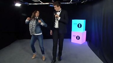 Image for Susanna Reid shows Greg James a few dance moves