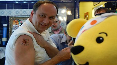 Image for John Darvall gets a tattoo for Children in Need