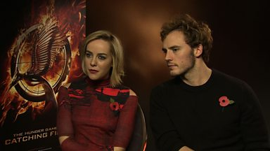 Image for Jena Malone and Sam Claflin on joining The Hunger Games