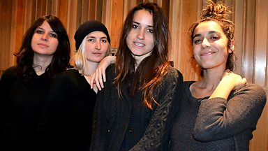 Image for Warpaint live in session for Steve Lamacq