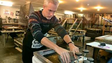 Image for Matt Everitt goes screen printing for Wear Your Old Band T-Shirt to Work Day