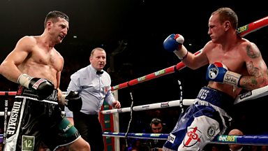 Image for George Groves demands a re-match from WBA and IBF super-middleweight champion Carl Froch