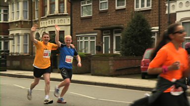 Image for Deaf and blind runner at the East London Half Marathon