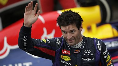 Image for Mark Webber F1 podium in last race