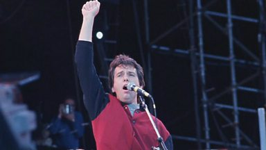 Image for Helen - getting Peter Gabriel's support at Glastonbury