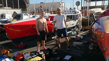 Image for Youngest pair to the row the Atlantic - ready for off