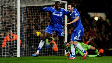 Image for Demba Ba scores winning goal for Chelsea
