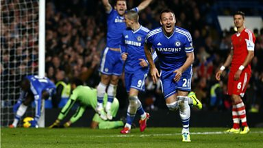 Image for John Terry scores for Chelsea against Southampton