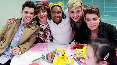 Image for Union J visit Centre 404, a project supported by BBC Children in Need