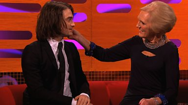 Image for Daniel Radcliffe chats about his hair extensions