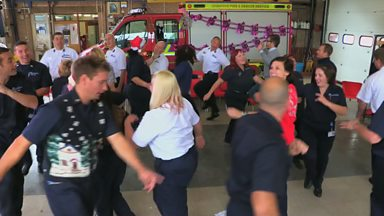 Image for Cheshire Fire Service dance off the tension