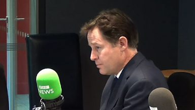 Image for Nick Clegg on benefits for EU migrants