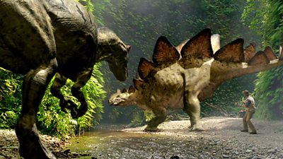 Stegosaurus and Painting