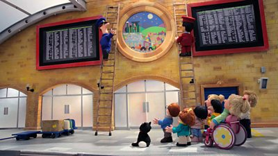 Postman Pat and the Train Station Window