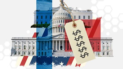 Graphic showing Capitol and White House with price tag