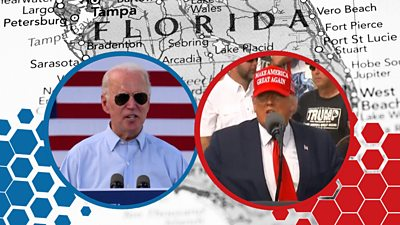Donald Trump and Joe Biden both held events in Florida in the final days before the US election.