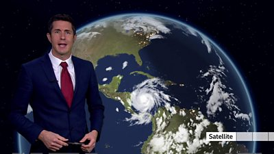 The BBC's Chris Fawkes presents the weather