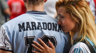 Diego Maradona: Thousands of fans mourn footballer