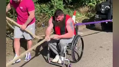 Dave Walsh used to compete in able-bodied competitions until he was diagnosed with MS.