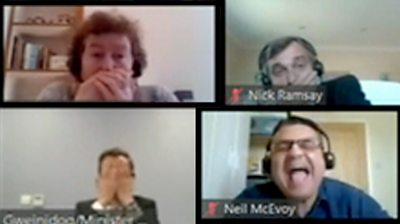 Reactions to the Welsh health minister swearing during a virtual meeting