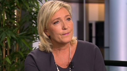 Marine Le Pen, President of the National Front Party, France