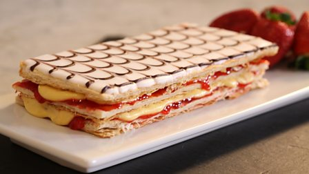 BBC - Food - Recipes : Strawberry jam millefeuille
